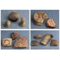 Casa colectiilor - Sala 1 -  fragmente ceramica neolitica 02.jpg