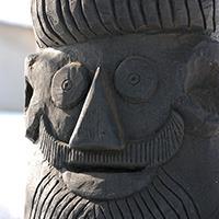 Sculptura lemn - Gal sculpt curte si poarta_200px